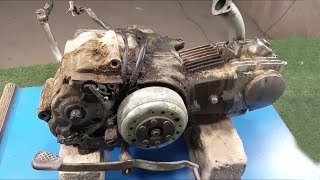 Old Motorcycle Engine full restoration