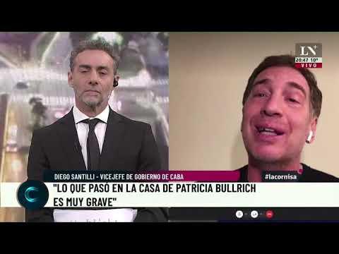 """Diego Santilli: """"Lo que pasó en la casa de Patricia Bullrich es muy grave"""""""