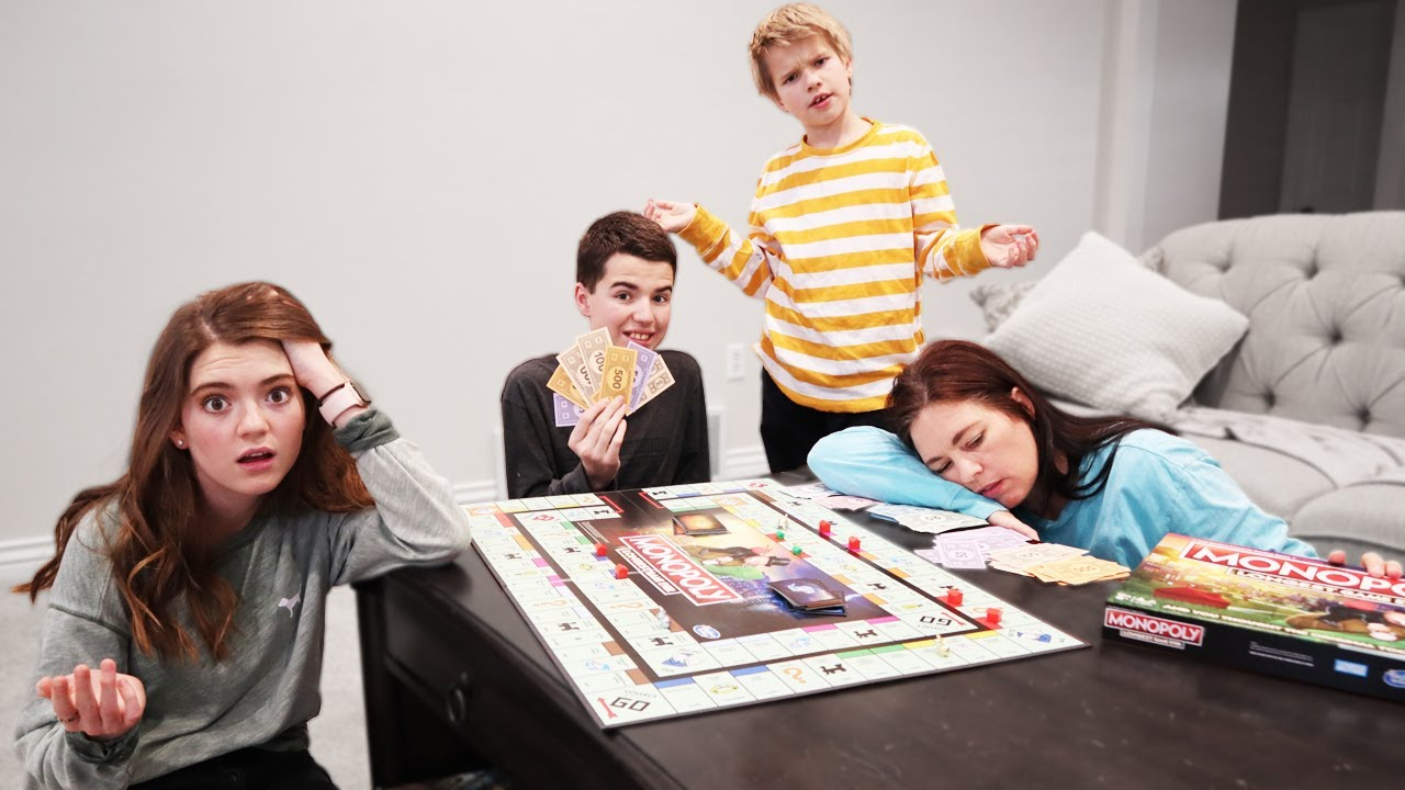 Last To Leave Monopoly Wins – Family Game Night! I The Williams