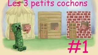 Minecraft, les 3 petits cochons : épisode 1 [avec Ksh]