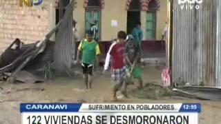 Inundaciones en Caranavi, comunarios se resisten abandonar sus viviendas @ RED PAT BOLIVIA