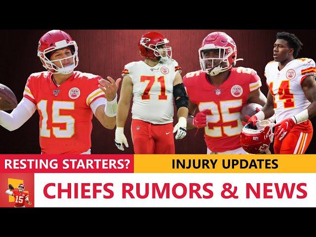 Chiefs Rumors\: Patrick Mahomes Resting Week 17? Injury News On Sammy Watkins, Mitchell Schwartz, CEH