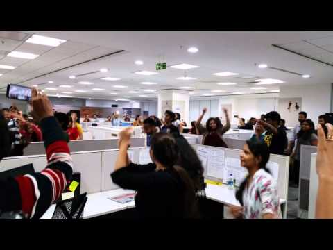 Flash Mob at Thomson Reuters Legal Hyderabad