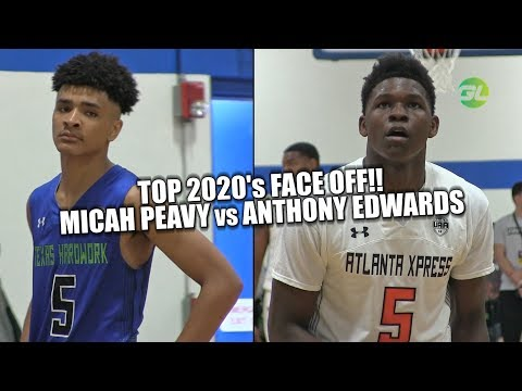 TOP 2020's FACE OFF Micah Peavy vs Anthony Edwards UA Indy Full Highlights