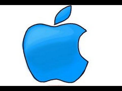 How to draw Apple logo - YouTube