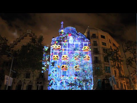 a288fcd5ea Mapping casa Batlló 2015 Barcelona - YouTube