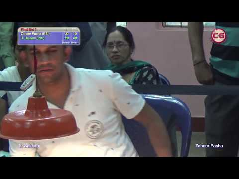Final Set 2 Zaheer Pasha VS S  Saleem Karnataka 37th Annual state carrom championship