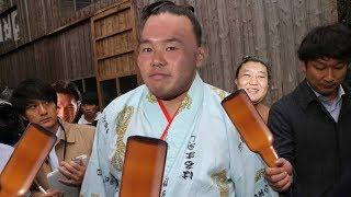 【コメントありがとナス!】モンゴルの後輩力士 貴ノ岩 をビール瓶で○○...