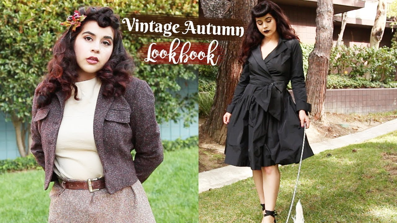 [VIDEO] - An Autumn Vintage Inspired Lookbook??? | Mostly Thrifted 1