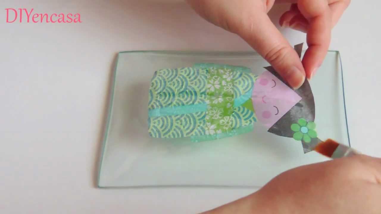 Decoupage craquelado en cristal youtube - Pegamento para decoupage ...