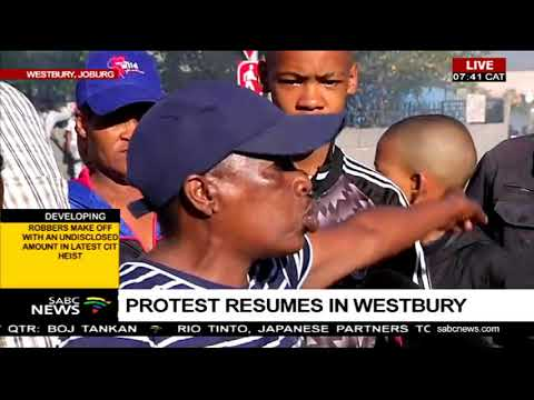 Protest resumes in Westbury