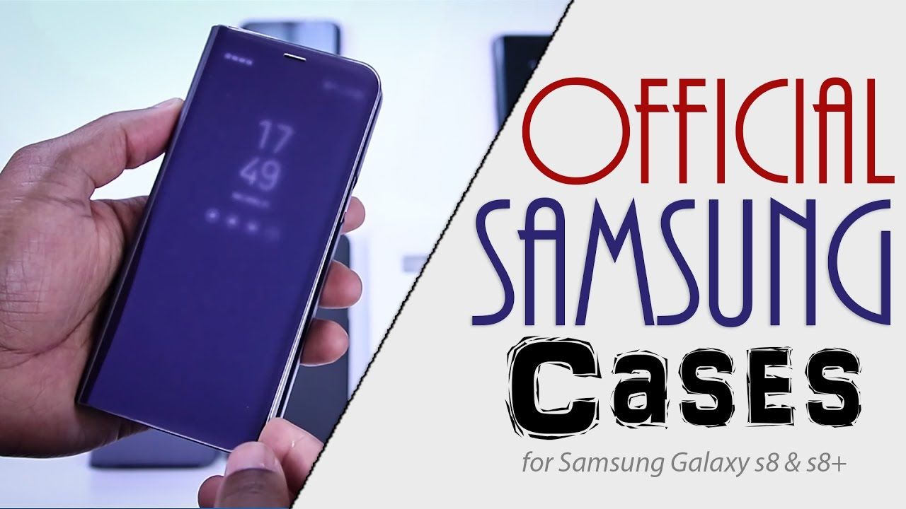 hot sale online 8804f f7e32 Official Samsung Cases Review for Galaxy S8 and S8+ - YouTube