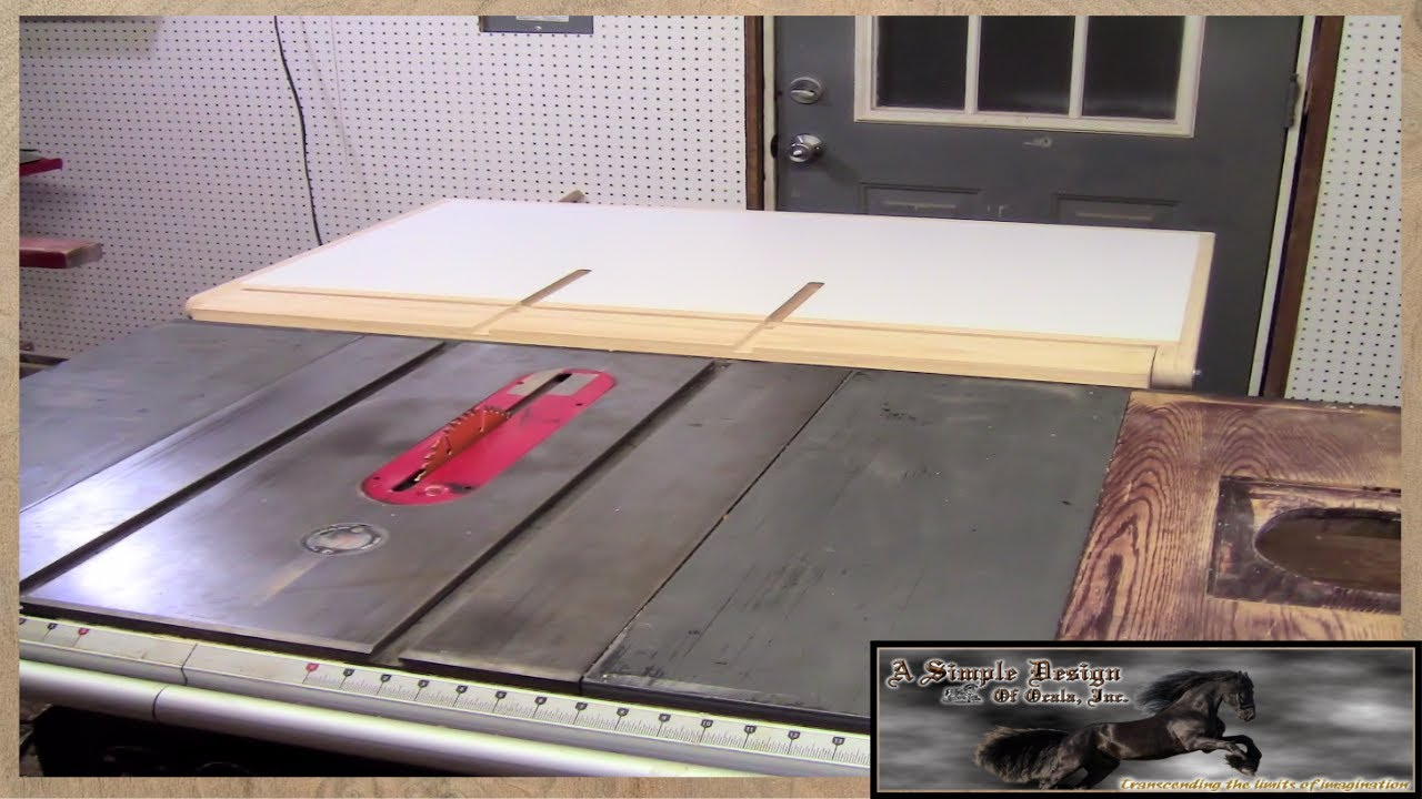 Make A Table Saw Out Feed Table Part 2 Youtube