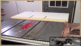 Make a Table Saw Out Feed Table Part 2