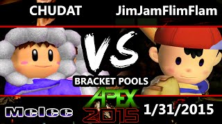 Apex 2015 - Jim Jam Flim Flam (Ness) Vs. Mor | Chudat (Ice Climbers) SSBM Pools - Melee