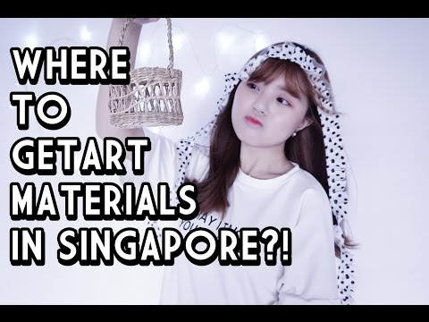 Where to get art materials in Singapore (My main sources of art materials!!)