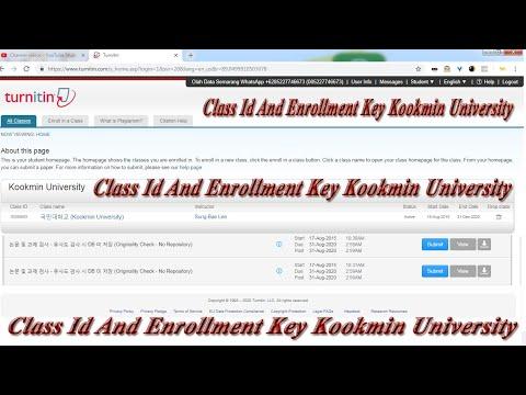 Class Id And Enrollment Key Kookmin University Youtube