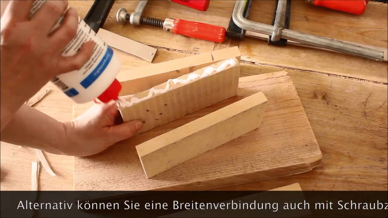 film 9 holz leimen breitenverbindung youtube. Black Bedroom Furniture Sets. Home Design Ideas