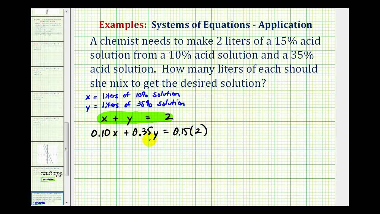 Algebra mixture problems (examples, solutions, videos).