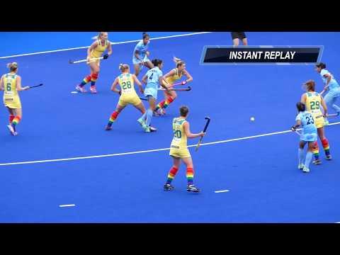 India V Australia Final Womens Hockey Melbourne 2016. 1st Quarter