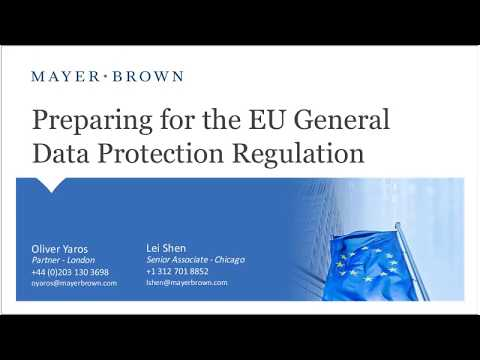 Preparing for the EU General Data Protection Regulation