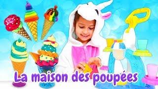 Vidéo drôle en français de la famille de licornes : un magasin de glace