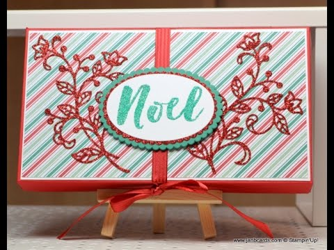 No.209 - Coordinating Christmas Cards & Tag in Box - JanB UK Stampin' Up! Demonstrator Independent