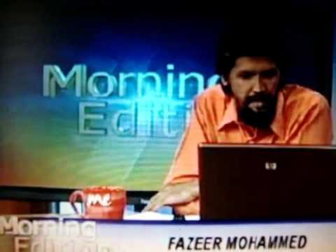 Fazeer Mohammed Apology to Pearce Robinson