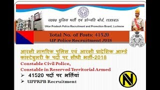 Latest UP police constable recruitment ||up police vacancy 2018||Notification Analysis