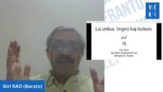 2020 VEKI: La urdua: lingvo kaj kulturo – Giridhar Rao