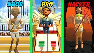 NOOB vs PRO vs HACKER in Oh God! screenshot 4