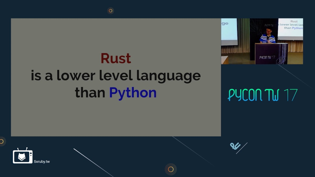 Image from 許邱翔 - Python module in Rust - PyConTW2017