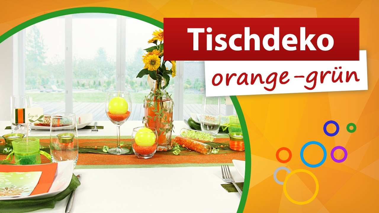 Tischdeko Orange Grun Tischdekoration Trendmarkt24 Youtube