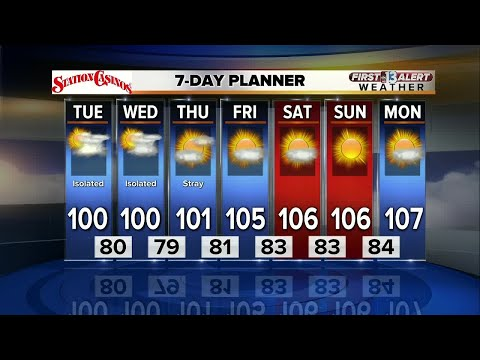 13 First Alert Las Vegas Weather Forecast for Monday afternoon 8/21