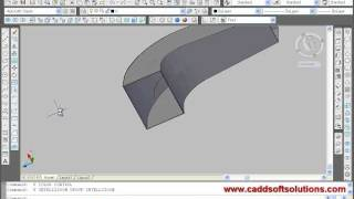 AutoCAD 3D Advanced Tutorial - Revolve, Sweep, Loft Command, Path, Guides - 17