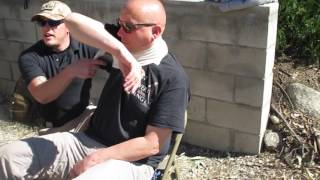 Bandaging wounds to the neck (Bleeding Control-Wound Management)