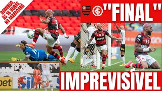 Inter tem a vantagem, pode empatar e se vencer será campeão. Flamengo terá que jogar mais no domingo