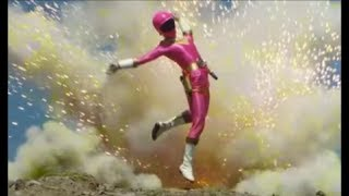 Pink Zeo Ranger Defeated
