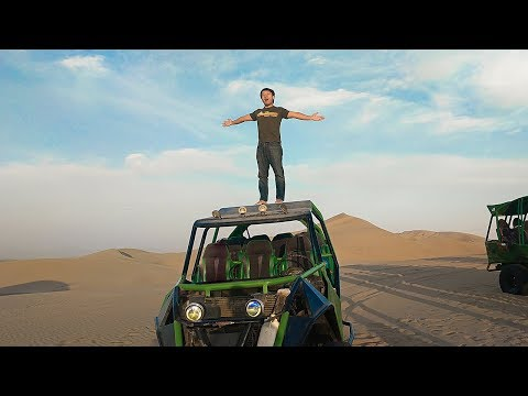 Surfing SAND DUNES Near Only Oasis in South America || Huacachina Peru