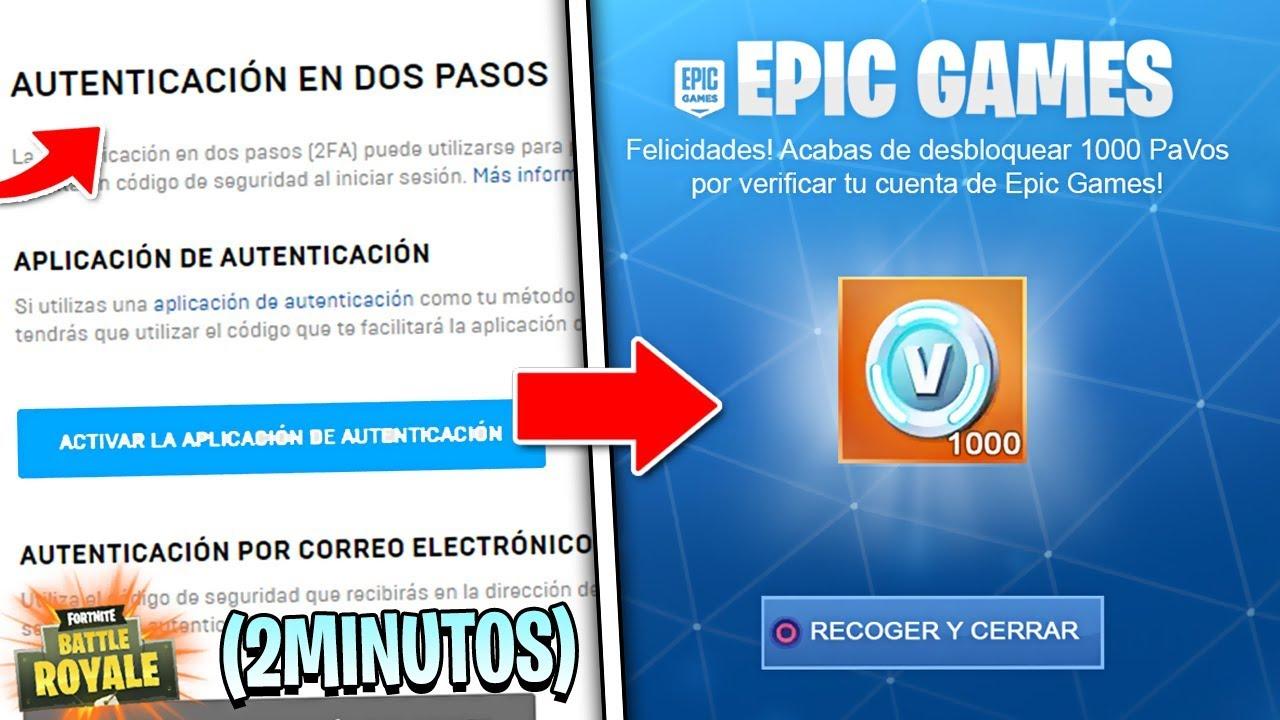 10 Gratis Para Fortnite Activando La Verificación En 2 Pasos Pavos Gratis Fortnite Youtube
