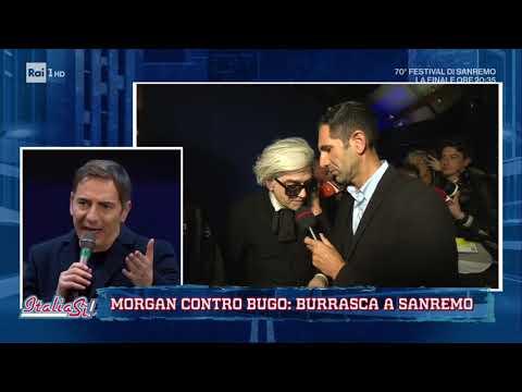 Fischi per la vendetta di Morgan che continua ad attaccare Bugo - ItaliaSì! 08/02/2020
