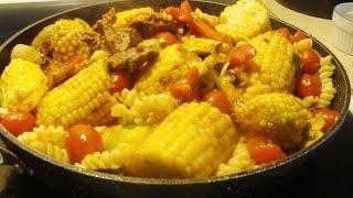 Beef Stir Fry with Corn on the Cob - Italian Style