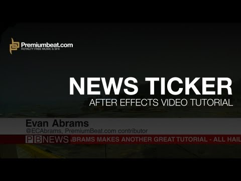 After Effects News Ticker Tutorial