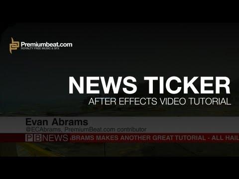 After Effects News Ticker Tutorial
