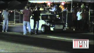 Mad Cow RB25 Datsun 10.1 NEW LOCAL BEST @ TTUNDRA Event#3 Night Drag