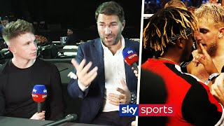 Eddie Hearn explains why he was surprised at KSI's reaction to Jake Paul