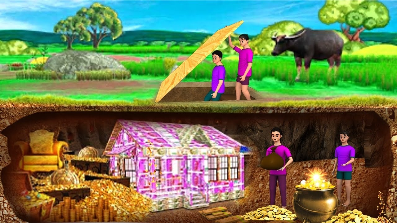 भूमिगत पैसा का घर - Underground Money House Story | 3D Animated Hindi Moral Stories | Maa Maa TV