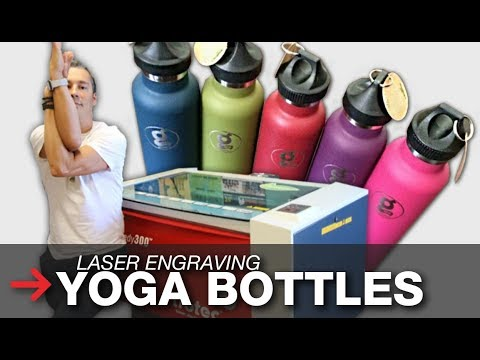 Laser Engraved Yoga Bottles | Laser Engraved Towels | Trotec