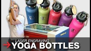 Laser Engraved Yoga Bottles | Laser Engraved Towels | Trotec
