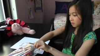Drawing a Teddy Pig, How to Draw, Girl with Little Pig Stuffed Animal Toy Story Telling Draw Art